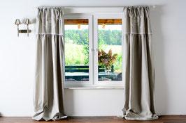 Rose Queen grau Vorhang 1x (100x50cm+150x200cm) x 250cm