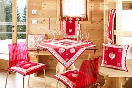 Galtex Tischdecke 140x180cm Grenoble Cotuntry Landhaus Rot