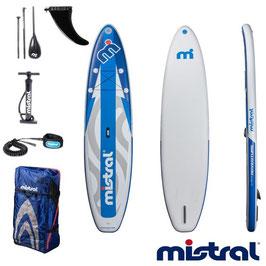 Mistral(ミストラル)インフレータブルSUP「Adventure11.5''」アドベンチャー11.5''(3Pパドル、リーシュコード、空気ポンプ一式)