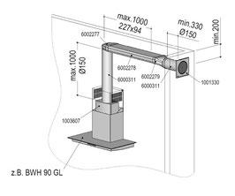Berbel Abluft-Set ECO III Typ: Abluft-Set ECO III Flach 150 doppelt | 1004734