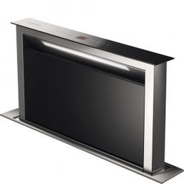 Smeg · KDD60VXE-2 Neuheit · Downdraft-Muldenlüfter · 60cm · Schwarzglas · Neutrales Design