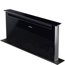 Smeg · KSDD90VN Neuheit · Downdraft-Muldenlüfter · 90cm · Schwarzglas · Dolce Stil Novo-Design