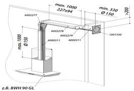 Berbel Abluft-Set III Typ: Abluft-Set III Flach 150 doppelt | 1004731