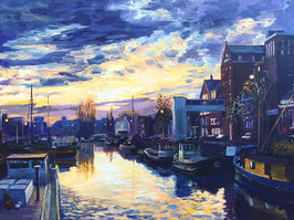Schilderij Noorderhaven 89 x 114 cm