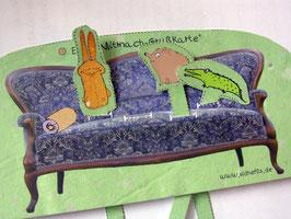 Mitmachgrußkarte Papiertheater von Janine Jonneg