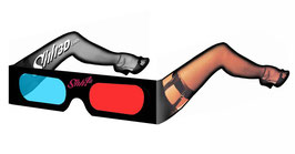 Shh! Sexy 3-D Lady Leg Glasses