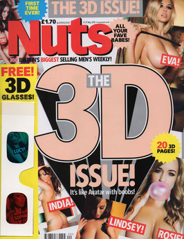 Britian's NUTS Men's Adult 3D Magazine