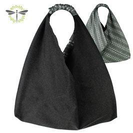 schwarz & grau - meliert -