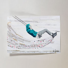 Hoch hinaus // Postkarte