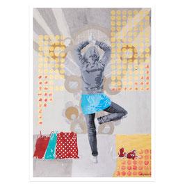 Alltags-Yoga // Postkarte