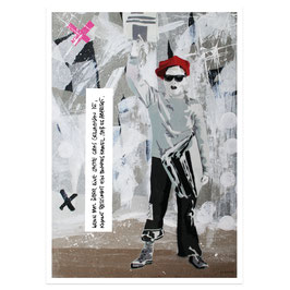 Zeitungsjunge // Postkarte