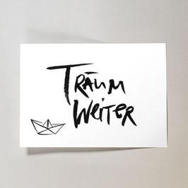 Träum weiter // Postkarte
