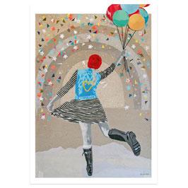 Tanzballon // Postkarte