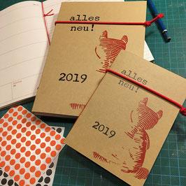 Buchkalender 2019 //  A6