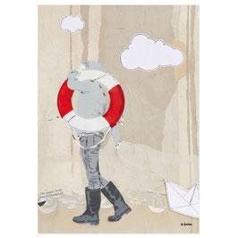 Rettungsringmädchen // Postkarte