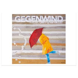 Gegenwind // Postkarte