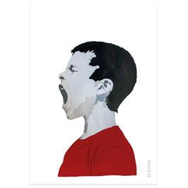 Schreiender Junge // Postkarte