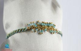 Armband Meerblau