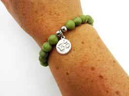 Achat-Armband mit Om-Symbol