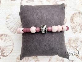 Elastisches Armband Flieder/Rosefarben
