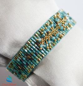 Perlenarmband Aqua