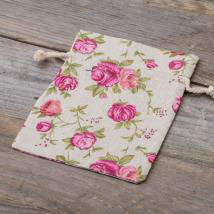 Leinen-Säckchen Rose