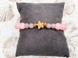 Seestern-Armband mauve/rosa