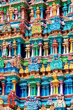 1000 colonnes (Madurai, Meenakshi Temple) par Mateo Brigande