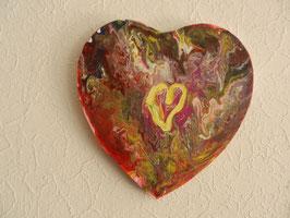 Acrylbild, Gemälde, Unikat Herz