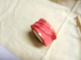 Schleifenband mit Goldrand 4,5cm,25m, rot