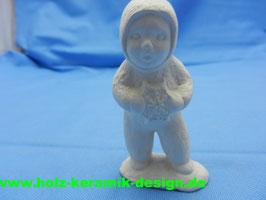 Schrühware -Winterkind mit Schneeflocke