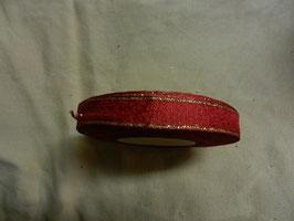 Schleifenband mit Goldrand 1,5cm, 50m, rot