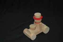 Holzauto mit Männchen