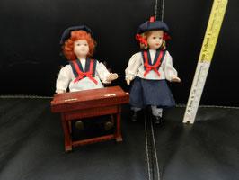 """Puppenpaar """"Schulkinder"""""""