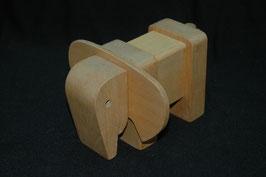 Holzstecktier Elefant