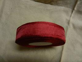 Schleifenband , geriffelte Kante 2,5cm, 50m, rot