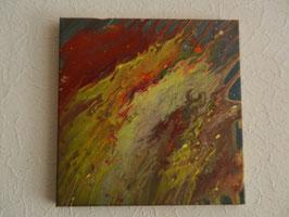 Acrylbild, Gemälde, Unikat Saturn