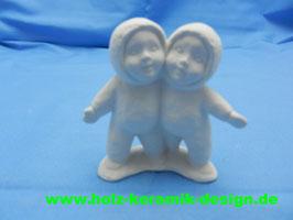 Schrühware -Winterkinder als Paar