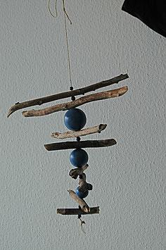 Windspiel Blau  Kugeln
