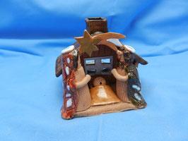 Keramikkrippe mit Teelicht