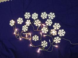 Holzschneeflocken 20 Stück für Lichterkette