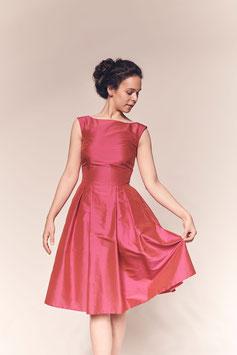 Kleid Natascha, pinke Seide