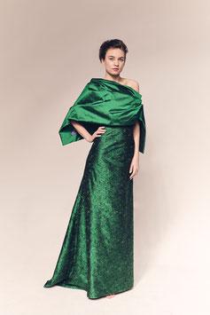 Schal Paula, Seide grün