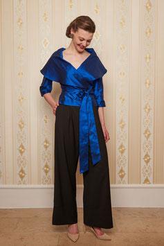 Bluse Kazuko mit 3/4 Ärmeln in blau