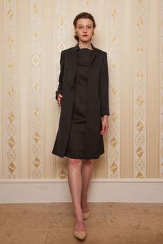 Mantel Gundi, schwarz, Wolljacquard