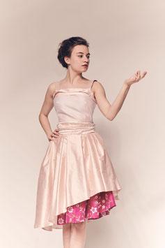 Kleid Tulpe, Seide