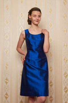 Kleid Carlotta, Seide blau