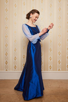 Kleid Elisabeth, blaue Seide