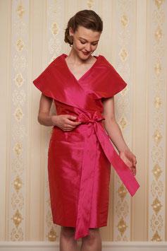 Bluse Kazuko mit kurzen Ärmeln in pink