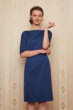 Kleid Arla mit 1/2 Arm, Jacquard Wollmischung